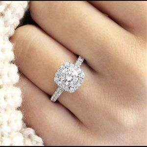 Jewelry - Halo Cushion Cut Ring